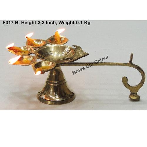 Panchmukhi Deepak Diya 5.84.12.2 Inch  F317 B