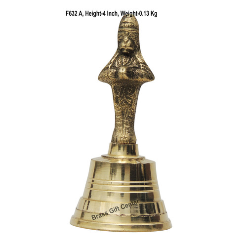 Brass Hand Bell - 1.8*1.8*4 Inch  (F632 A)