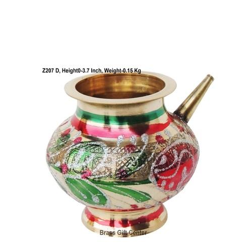 Brass Karwa Lota. No. 10 250 ml- 5*4*3.7 Inch  (Z207 D)