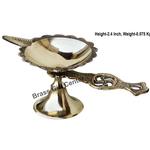 Brass Swastic Diya Deepak - 6*2.8*2.4 Inch  (Z144 E)