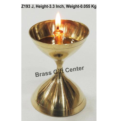 Brass Akand Diya Deepak No. 10 - 2.3*2.3*3.3 Inch  (Z193 J)