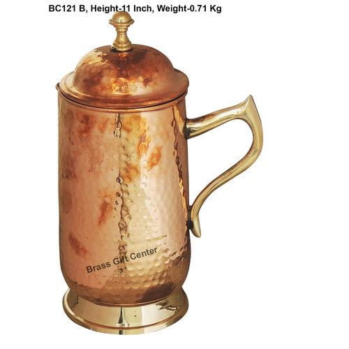 Pure Copper Jug 1.6 Litre  - 4*4*11 Inch  (BC121 B)
