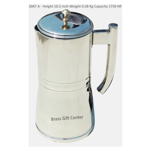 Pure Steel Jug - 10.5 Inch, 1750 ML S067 A