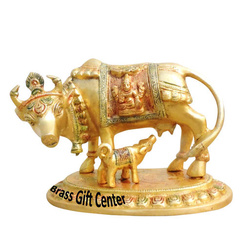 Brass Cow With Calf Gaye Bacdha 74.44.8 Inch  BS1014 A