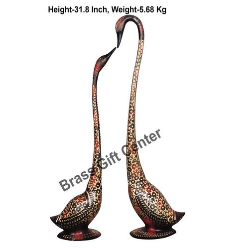 Brass Duck Pair With Handwork - 204.331.8 Inch  AN219 A