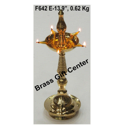 Brass Kerala Fancy Deepak Diya - 13.9 Inch  F642 E