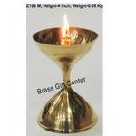 Brass Akand Diya Deepak No. 13 - 2.8*2.8*4 Inch  (Z193 M)