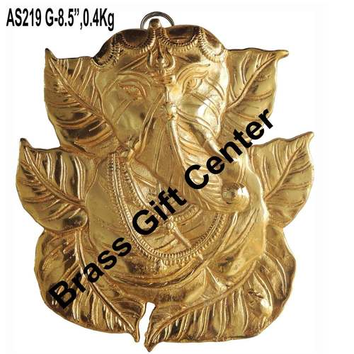 Wall Hanging Ganesh in gold finish AS219 G