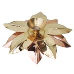Pure Brass And Copper Diya Deepak 5.2 inch Z124 C