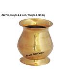 Brass B Lota No. 2 _200ml  - 3*3*2.2 Inch  (Z227 D)