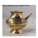 Brass Karwa Lota. No. 12 400 ml - 5.5*4.6*4.5 Inch  (Z310 E)