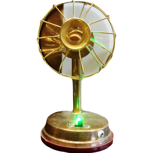 Brass Fan For Laddu Gopal And Children Playing Toy -447 Inch  F009
