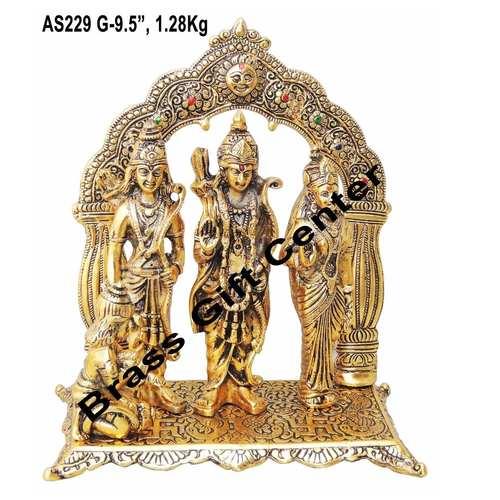 Ram Dharbar in Gold Antique finsih with Blue Velvet Box - 9.5 inch (AS229 G)
