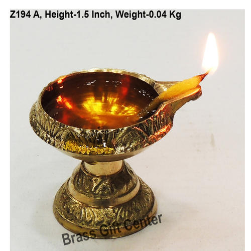 Brass Kuber Deepak Diya With Stand No. 00 - 1.81.61.5 Inch  Z194 A