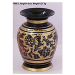 Brass Flower Vase pot with Handwork - 3.2*3.2*4 Inch  (F660 D)