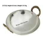 Brass Kadai With Kalai Work 1 liter - 9*9 Inch  (Z173 B)