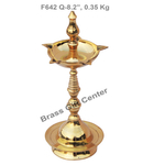 Brass Kerala Fancy Deepak Diya - 8.2 Inch  F642 Q