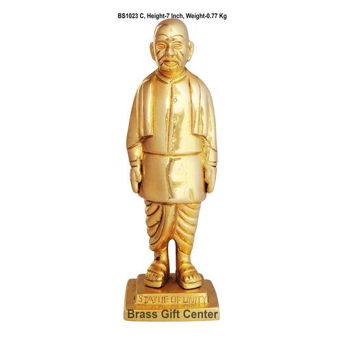 Brass Statue Of Unity Sardar Ballav Bahi Patel Murti Idol - 7 Inch  BS1023 C