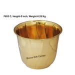 Brass planter Pot Gamala Diameter 6 Inch weight 280 gm  F653 C
