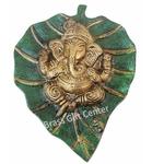 Wall Hanign Ganesh On Leaf AS096 B