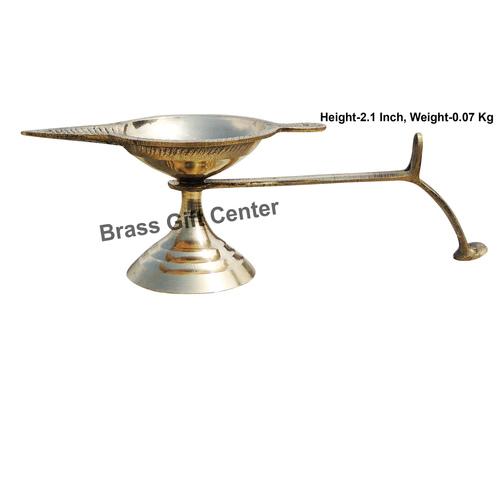 Brass Ek Batti Diya Deepak - 6.6*2.3*2.1 inch  (Z145 D)