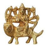 Brass Durga Ji StatueMurtiIdol With Natural Brass Finish-2 Inch BS746 C