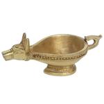 Nandi figure Brass Metal Aarti Diya, Oil Lamp - 2.5 Inch BS1182 A
