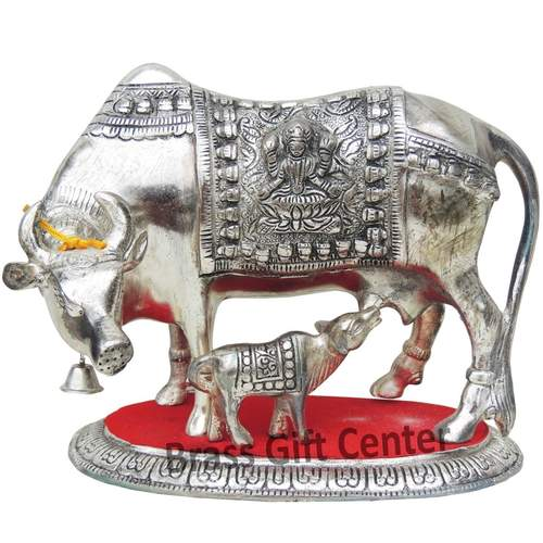 Gaye Bachdha Cow With Calf Statue - 7.5 Inch (AS129 S)