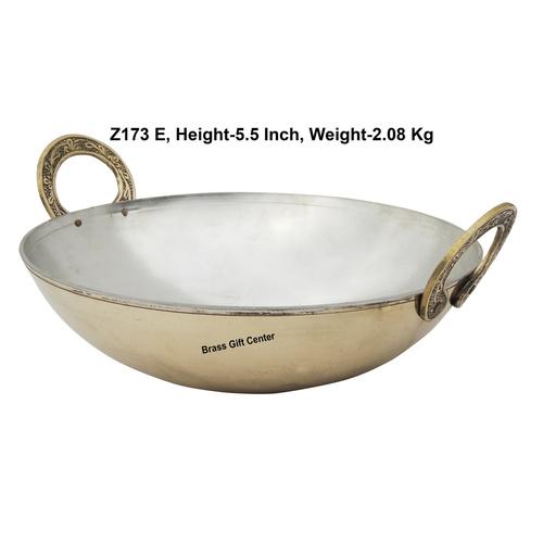 Brass Kadai With Kalai Work 3 liter - 11.511.5 Inch  Z173 E