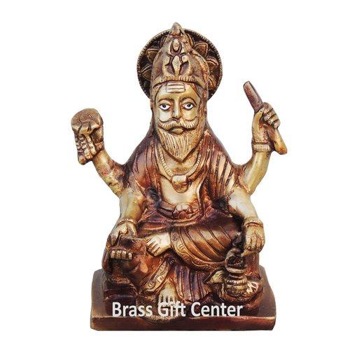 Brass Vishwakarma Statue Murti Idol 2 kg - 5.5x3x7.5 inch  BS922 A