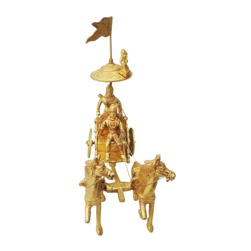 Brass Showpiece Arjun Rath - 8.5 Inch BS070 B