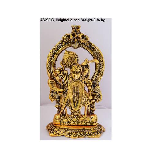 Shrinath In Golden Antique Finish - 5.5*3.5*9.2 Inch