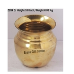 Brass Handi Lota No. 5 - 350 ml - 3.5x3.5x3.8 Inch  (Z284 D)