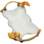 Aluminium Metal Tray Serving Platter with white and Nickel Finish- 128 Inch  A315012