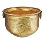 Brass planter Pot Gamala Chatai Diameter 17 Inch weight 3.85 Kg  (F615 E)