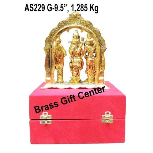 Ram Dharbar in Gold Antique finsih with Blue Velvet Box - 9.5 inch AS229 G