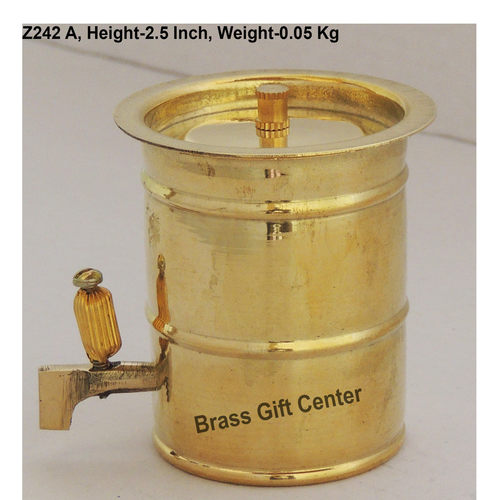 Brass Water Tank Drum Miniature for Children Playing - 2.52.12.5 inch  Z242 A
