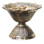 Brass Kamal Shape Deepak Diya - 2 inch  F636 A