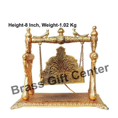Aluminium Ladoo Gopal Jhula In Gold Antique Finish - 9.36.28 Inch  AS258 B