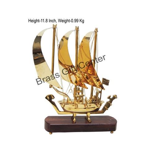Brass Ship In Shinning Brass Polish finish - 12 Inch (MR129 A)