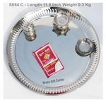 Stainless Steel Thali with Roli chawal packet- 11.5x11.5 inch (S054 C)