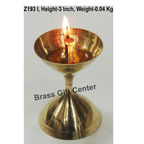 Brass Akand Diya Deepak No. 9 - 2.1*2.1*3 Inch  (Z193 I)