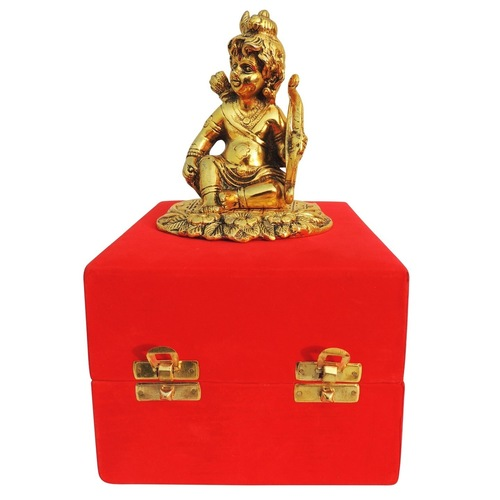 Showpiece Krishna With Dhanush Bow  In Golden Finish - 5.3 Inch AS366 G