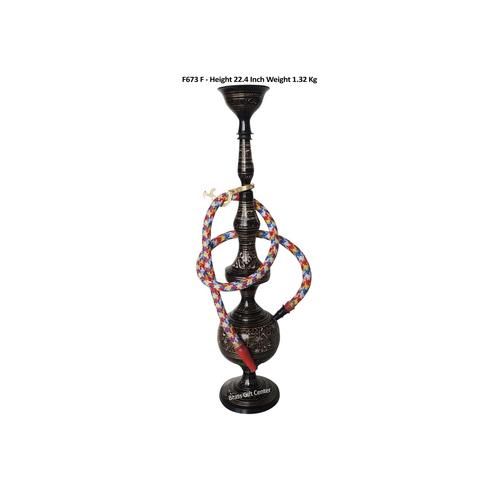 Brass Hookah 22.4 Inch In Black Design F673 F