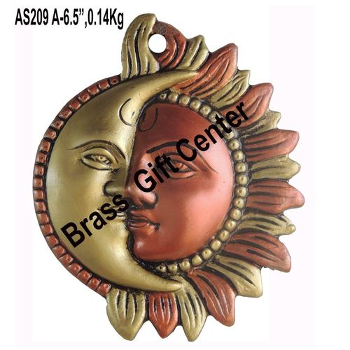 Wall Hanging Sun and Moon - 6.5 inch AS209 A