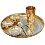 Pure Brass Thali Set 7 PCs- 12.2 Inch BC108 A