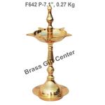 Brass Kerala Fancy Deepak Diya - 7.1 Inch  F642 P