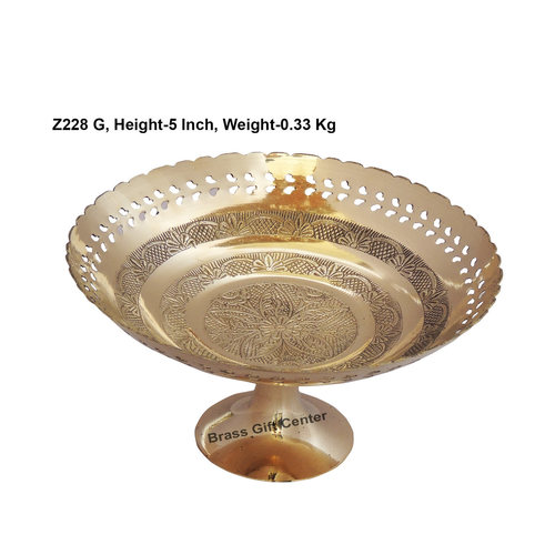 Brass Pan Jali Bata Bowl No.10 - 9 Inch  (Z228 G)