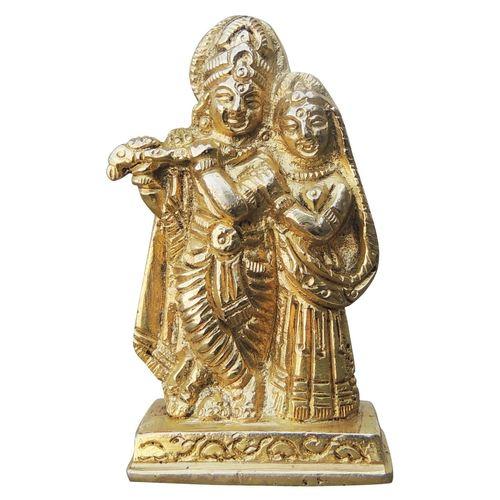 Brass Radha Krishna Staute Idol Murti - 1.7*0.8*2.6inch  (BS1007 B)