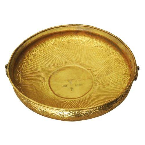 Brass Urli with Handwork Diameter 35 inch F574 Y